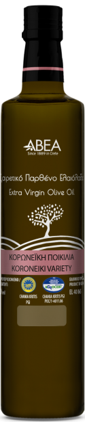 ABEA Koroneiki Monovarietal Extra Virgin Olive Oil- 250ml Dorica Glass Bottle