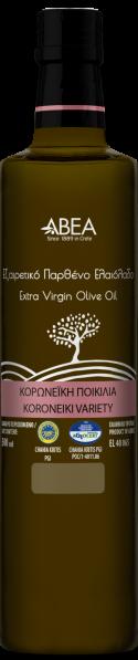 ABEA Koroneiki Monovarietal Extra Virgin Olive Oil- 500ml Dorica Glass Bottle