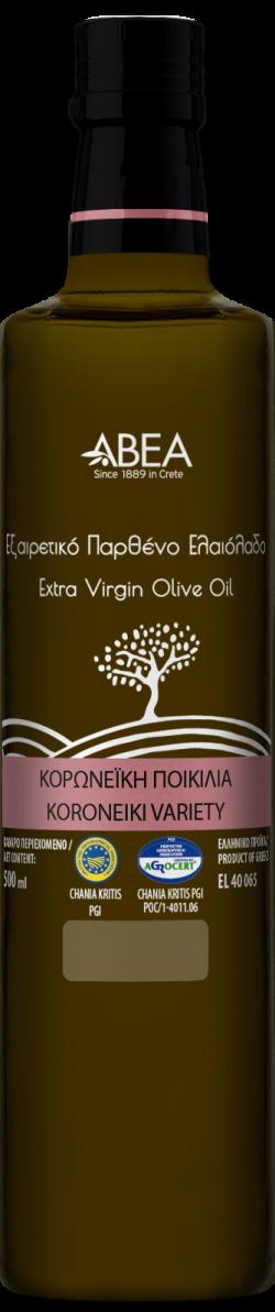 Ulei de masline extravirgin monovarietal Koroneiki, sticla Danae 500ml