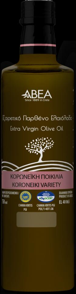 Ulei de masline extravirgin monovarietal Koroneiki, sticla Danae 1l