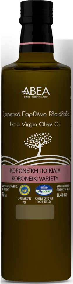 ABEA Koroneiki Monovarietal Extra Virgin Olive Oil- 750ml Dorica Glass Bottle