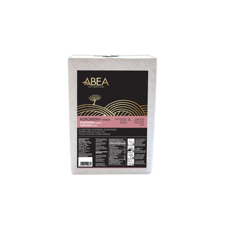 ABEA Koroneiki Monovarietal Extra Virgin Olive Oil- 5lt Bag in Box