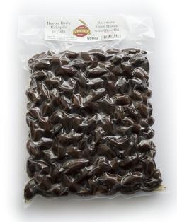 Μαύρες επιτραπέζιες ελιές με αλάτι -500gr συσκευασία κενού αέρος
