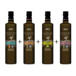 ABEA Extra Virgin Olive Oil-500ml Dorica Glass Bottle *4