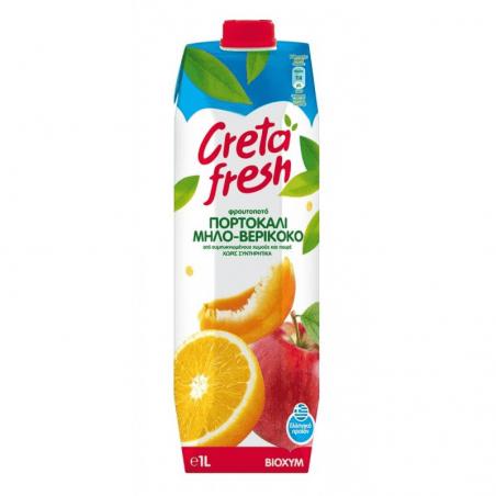 Creta Fresh Orange Apricot Apple Fresh Juice - 1lt