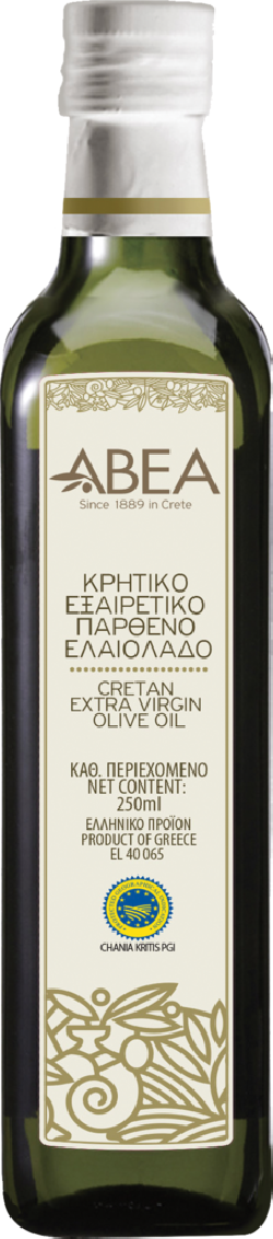 ABEA Extra Virgin Olive Oil PGI Chania-250ml Marasca Glass Bottle
