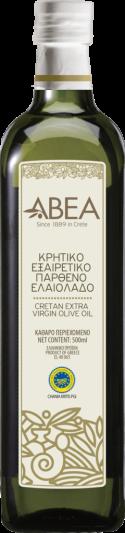 ABEA Extra Virgin Olive Oil PGI Chania-500ml Marasca Glass Bottle