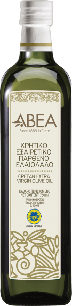 ABEA Extra Virgin Olive Oil PGI Chania-750ml Marasca Glass Bottle